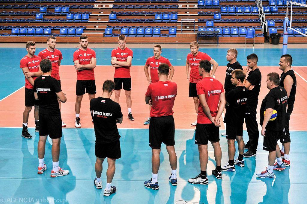Trening Asseco Resovii w hali Podromie