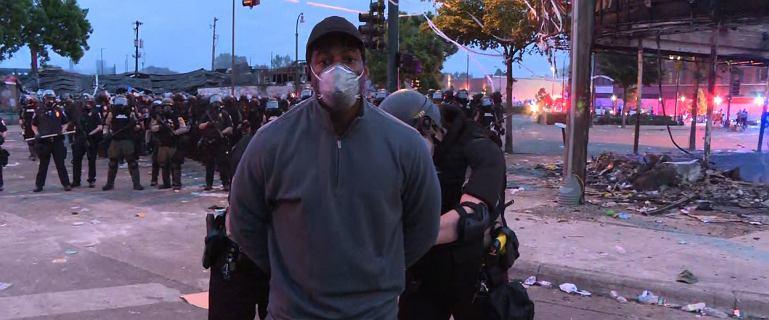 Protesty po śmierci George'a Floyda. Policja zatrzymała dziennikarzy CNN