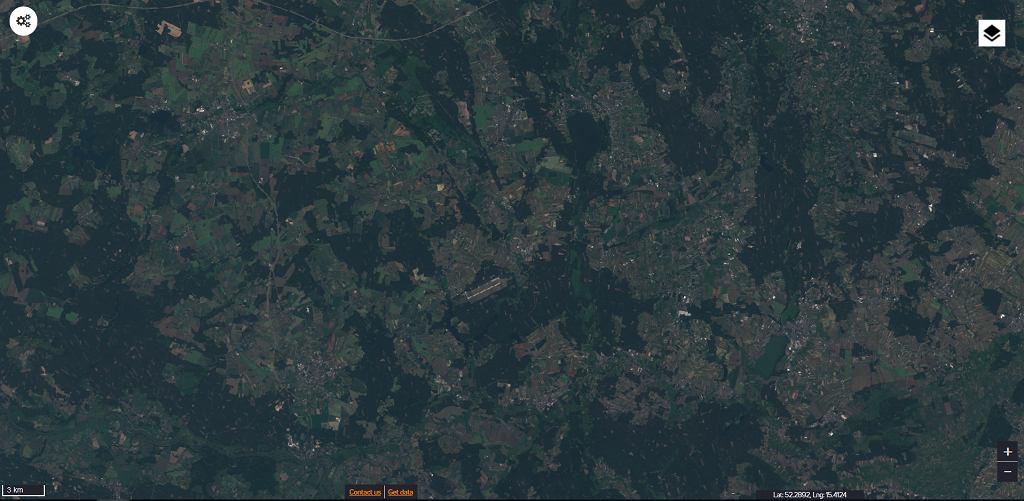 Zdjęcie satelitarne okolic Babiegomostu w woj. lubuskim,  20/06/2015
