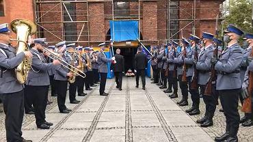 Pogrzeb policjanta Michała Kędzierskiego w Raciborzu. Funkcjonariusz został śmiertelnie postrzelony podczas interwencji.