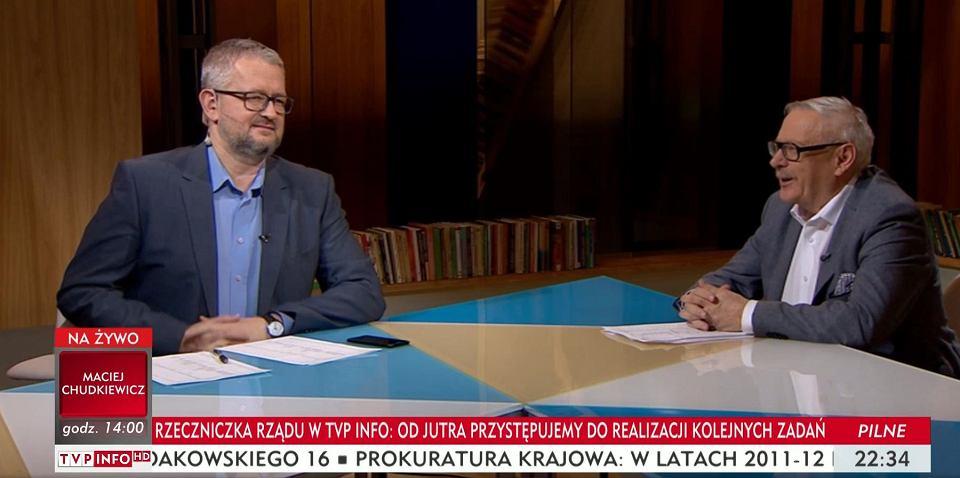 Rafał Ziemkiewicz i Marcin Wolski w awaryjnym studiu na Woronicza