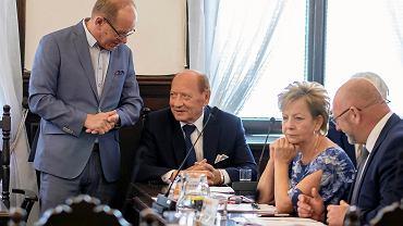 Wiesław Buż, przewodniczący podkarpackich struktur SLD (po lewej), i Tadeusz Ferenc, prezydent Rzeszowa i były członek SLD