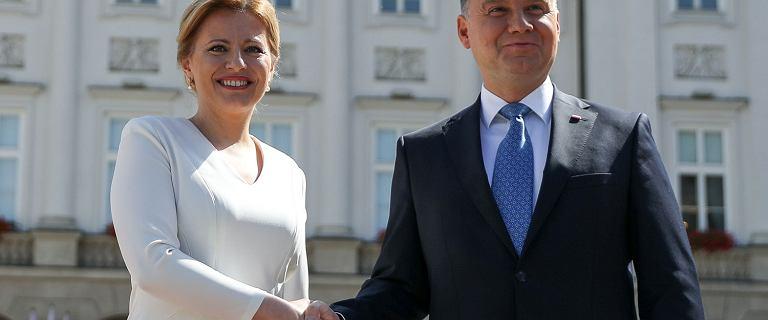 Po spotkaniu Dudy i prezydent Słowacji. Rozmawiali o m.in. nominacjach do KE