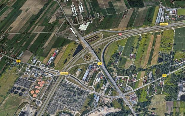 Okolice węzła Pruszków na A2