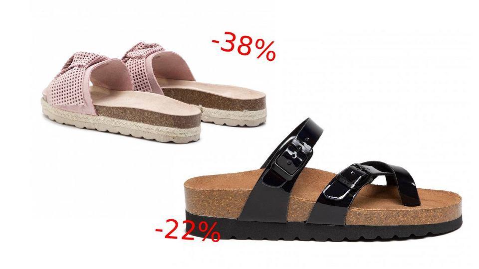 Wyprzedaż sandałów i klapek na naturalnych tworzywach