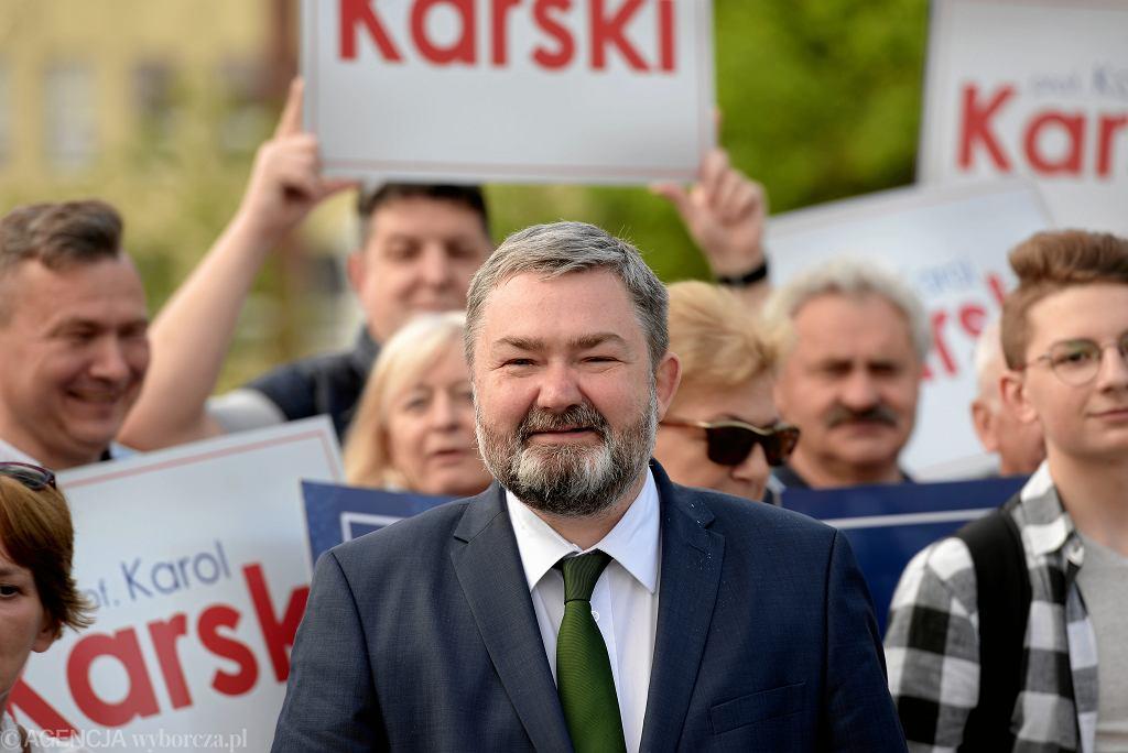 /Wiec przedwyborczy Karola Karskiego w Olsztynie