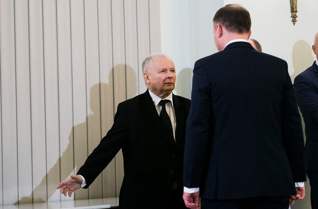 Prezes Jarosław Kaczyński i prezydent Andrzej Duda, 2017 r.