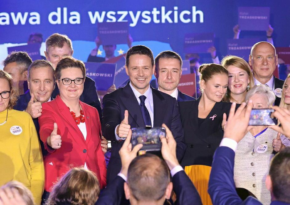 Rafała Trzaskowski i politycy Koalicji Obywatelskiej