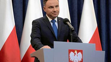 6.02.2018, Warszawa, prezydent Andrzej Duda oświadcza, że podpisze nowelizację ustawy o IPN.