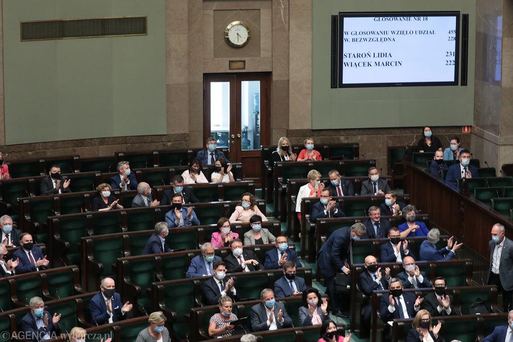 Sejm po wyborze Lidii Staroń