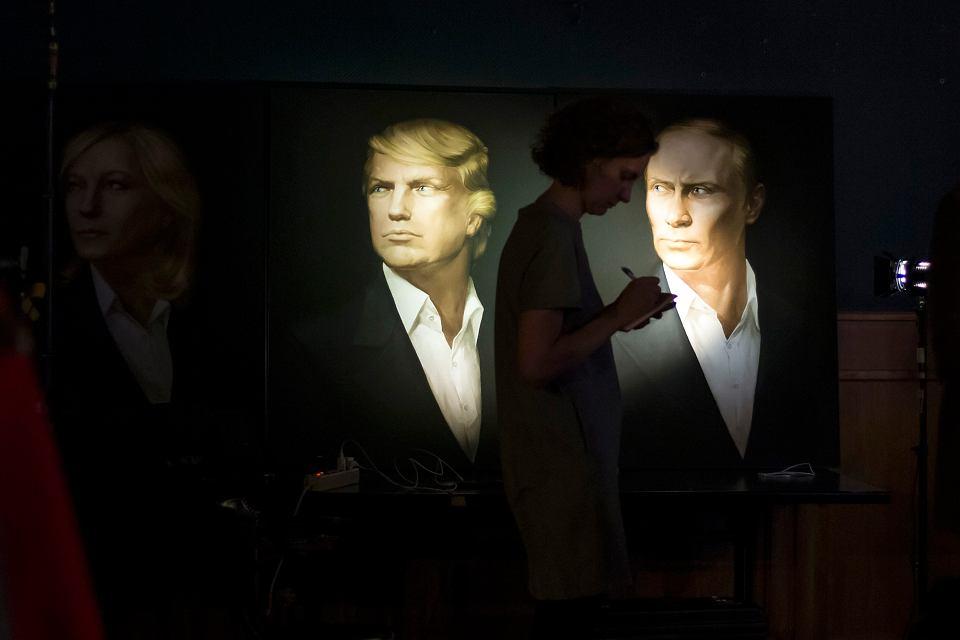 Portrety Donalda Trumpa i Władimira Putin