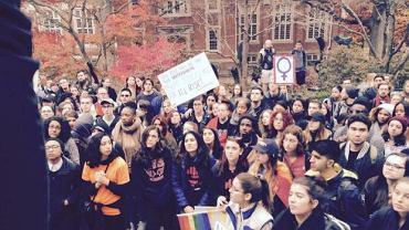 Studenci w całym kraju protestują przeciwko wyborowi Trumpa na nowego prezydenta