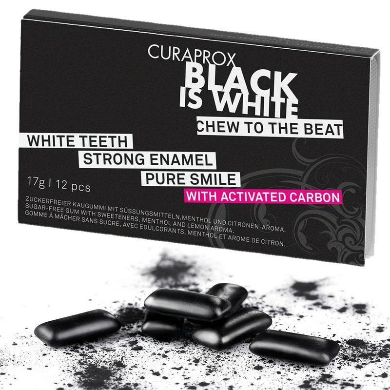 Black is White guma do zucia CURAPROX