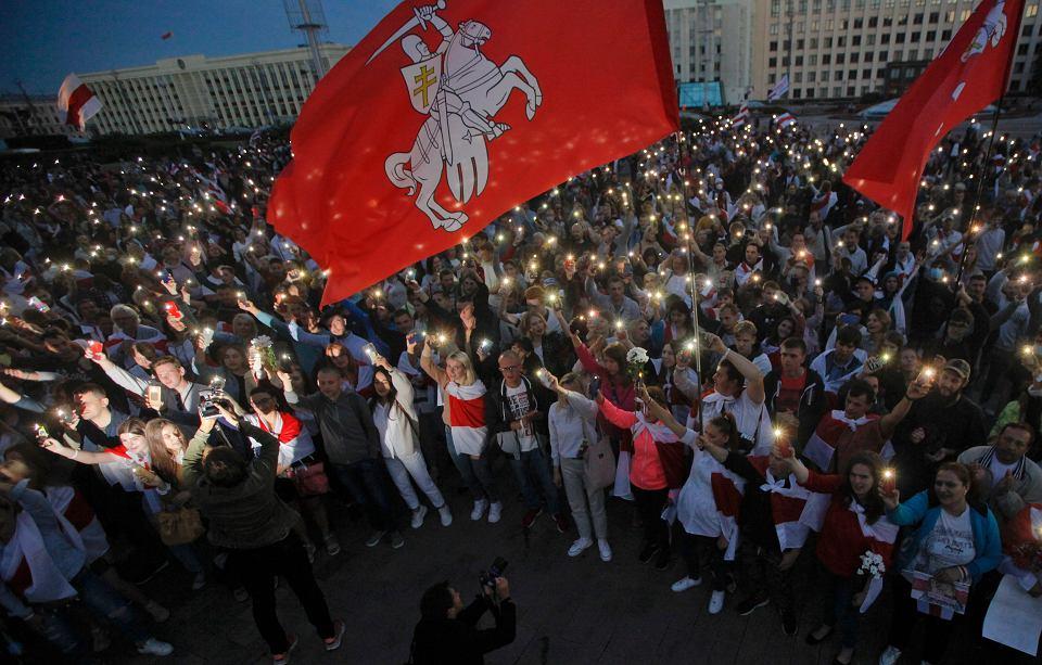 22.08.2020, Mińsk, kolejny dzień protestów przeciwko Aleksandrowi Łukaszence.