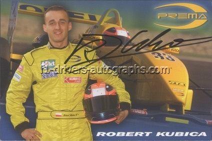 Autograf Roberta Kubicy