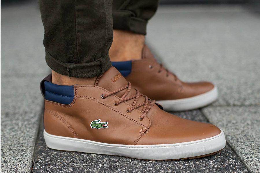brązowe buty męskie Lacoste