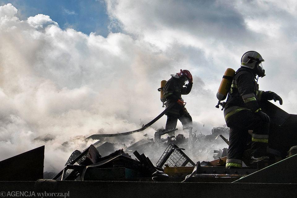 Pożar na składowisku odpadów, 2015 r.