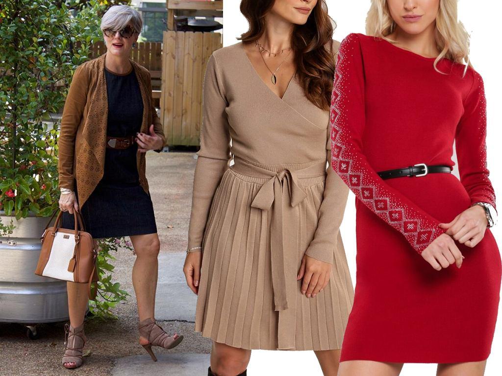 Eleganckie sukienki dzianinowe dla kobiet po 50-tce