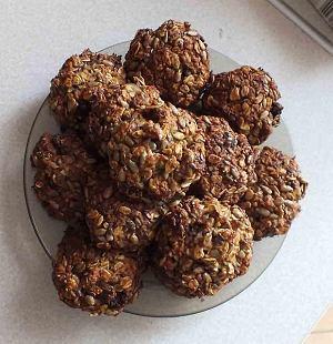 Zdrowe ciasteczka owsiane z bakaliami