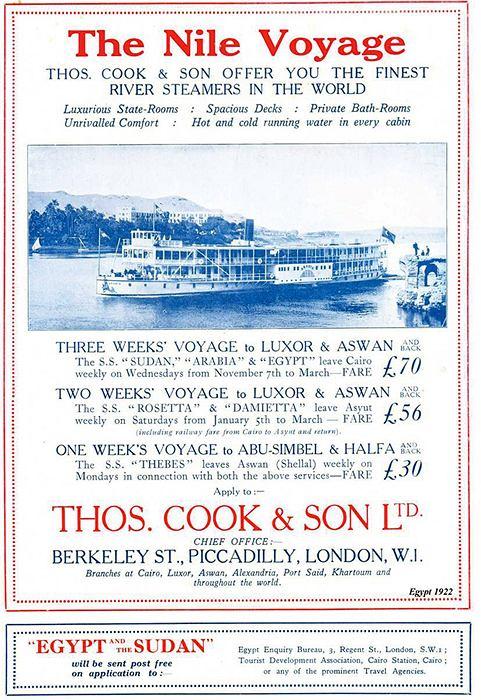 Thomas Cook: człowiek, który dał nam wakacje, wakacje, logo z klasą, Thomas Cook - plakat z 1922r