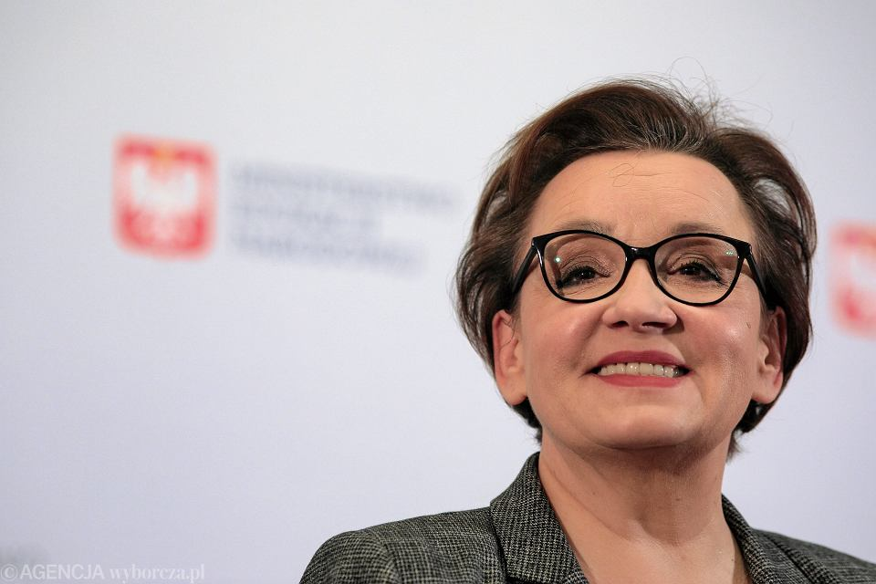 Minister edukacji w rządzie PiS Anna Zalewska podczas konferencji 'Szkoła w drugim roku wdrażania reformy edukacji'. Warszawa, MEN, 29 listopada 2018