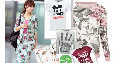 Bluzy i t-shirty z nadrukami