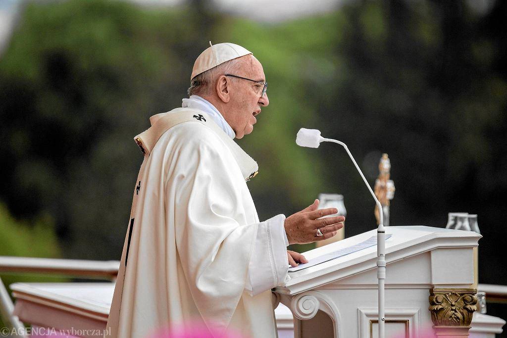 Częstochowa, 28 lipca 2016 r. Papież Franciszek na Jasnej Górze