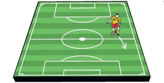 Sport: zostań futbolowym ekspertem,sport, piłka nożna, Cofnięty skrzydłowy (wing-back)
