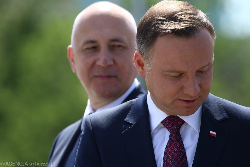 Joachim Brudziński i Andrzej Duda