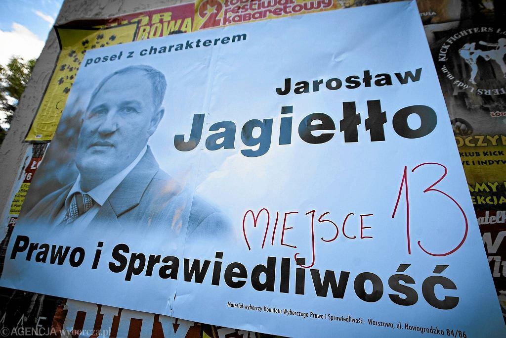 Plakat wyborczy Jarosława Jagiełły. Jeszcze w barwach PiS