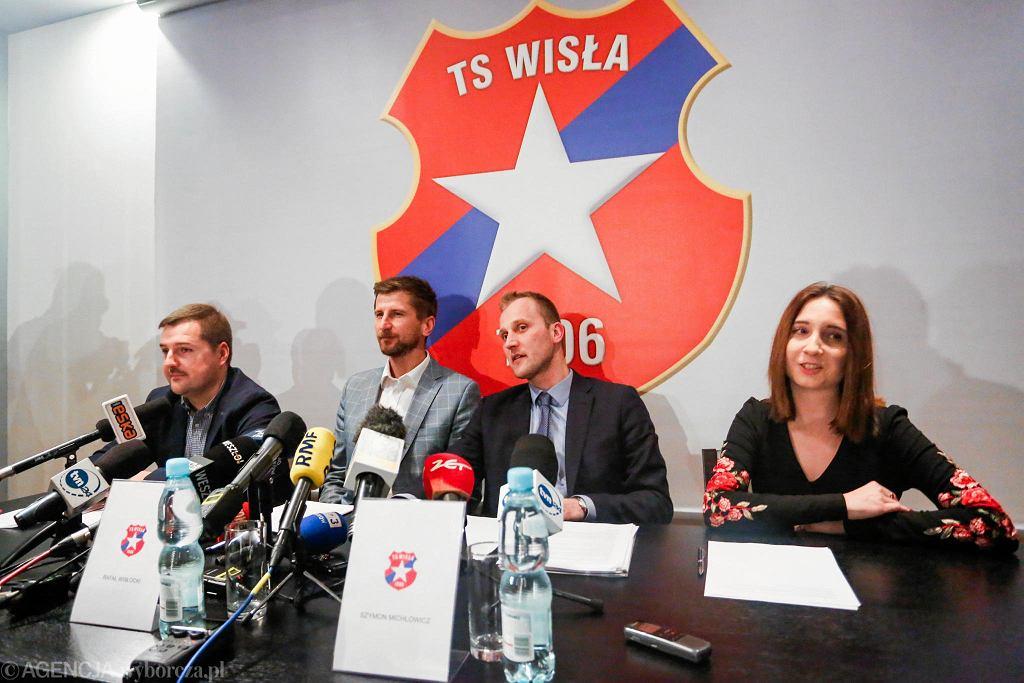 Lukasz Kwaśniewski, Rafał Wisłocki i Szymon Michlowicz na konferencji prasowej