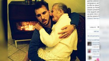 Giancarlo ze swoją 88-letnią babcią