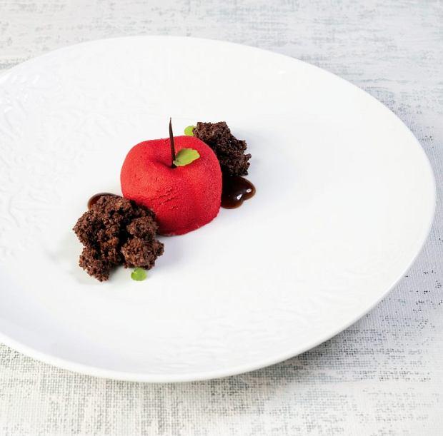 Parfait wiśniowe z wędzoną czekoladą