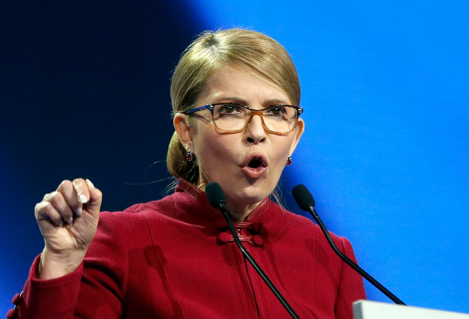 Julia Tymoszenko obwieszcza swój start w wyborach prezydenckich, Kijów, 22 stycznia 2019 r.