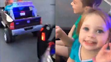 Dzieci uciekły policji autem elektronicznym