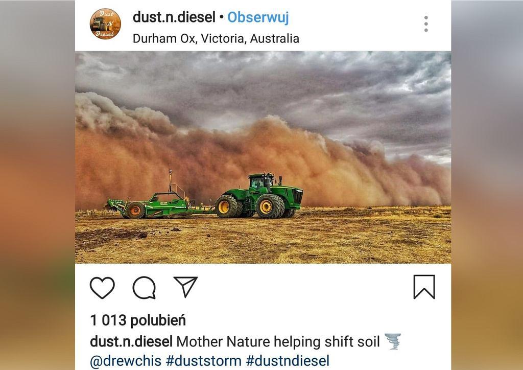 Burza piaskowa w Australii