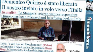 'La Stampa' na swojej stronie internetowej ogłosiła uwolnienie dziennikarza