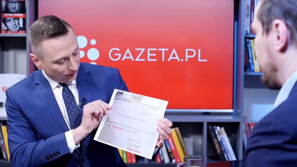 Krzysztof Brejza w Porannej rozmowie w Gazeta.pl