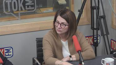 Julia Pitera w studiu TOK FM