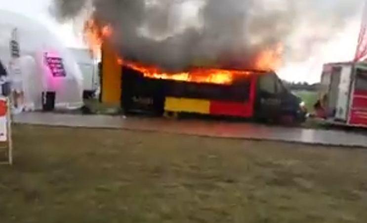 Pożar food trucka na Open'erze
