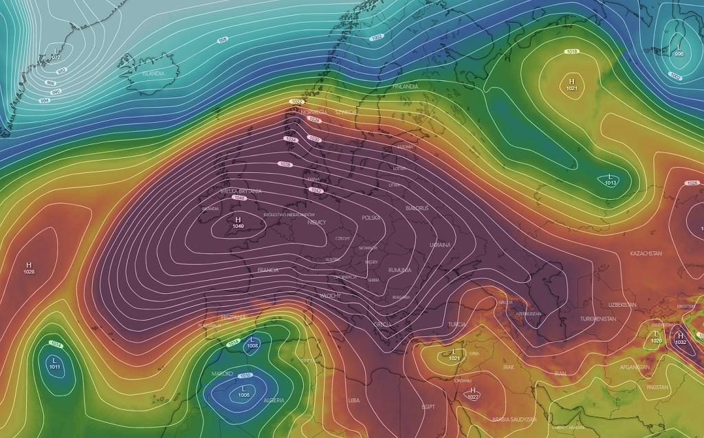 Ciśnienie nad Europą