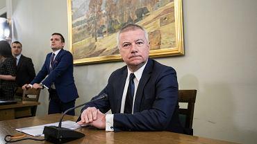 \Byly sekretarz stanu Kancelarii Prezesa Rady Ministrow Pawel Gras przed Komisja do spraw VAT