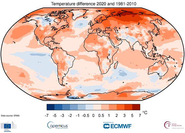 Rok 2020 wyjątkowo ciepły