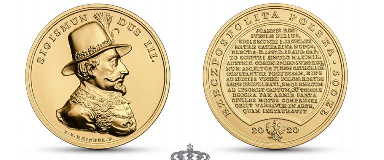 Monety kolekcjonerskie od NBP o wartości 500 zł z Zygmuntem III Wazą