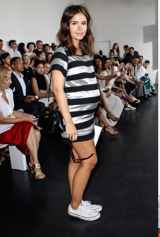 }Miroslava Duma at the Jason Wu Womenswear ready-to-wear Summer 2015 Fashion Show in New York, United States/PIXEL-FORMULA_044