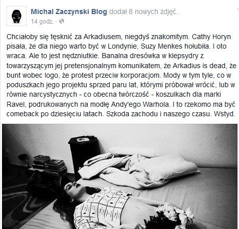 Michał Zaczyński o nowej kolekcji Arkadiusa / i-PFashion