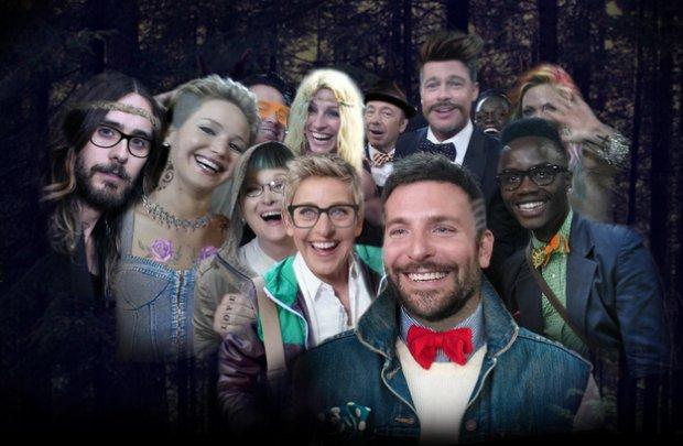 Oscarowe selfie w hipsterskiej wersji