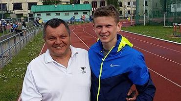 Leszek Trzos, trener i jego podopieczny Mateusz Dębski