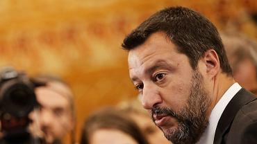 Włoski minister spraw wewnętrznych Matteo Salvini