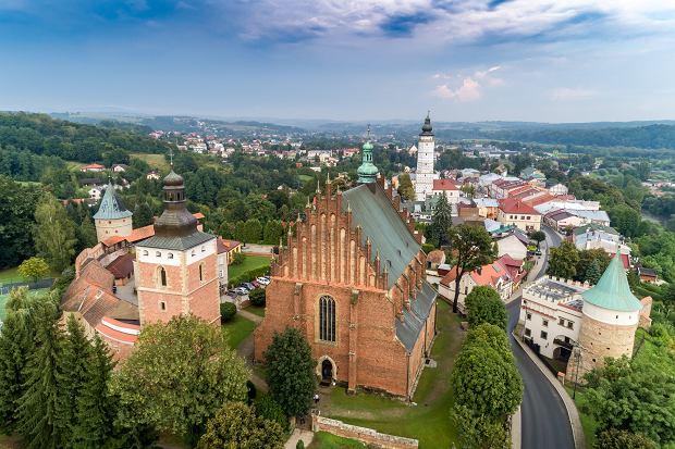Widok na kościół farny z góry